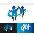 Swoosh teamwork icon vector