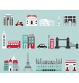 Symbols of famous cities vector