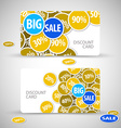 Set of big sale cards vector
