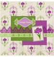 Scrapbook design elements - iris flowers vector