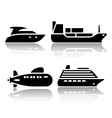 Set of transport icons - water transport vector
