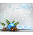 Christmas background with conifer cones vector