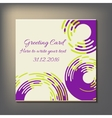 Beautiful abstract invitation card vector