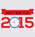 2015 greeting card flat design vector