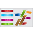 Set of ribbons and banners with paper cuts and vector