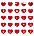 Love heart set vector