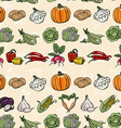 Seamless horizontal pattern with colored vector