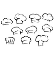 White chef hats and caps set vector