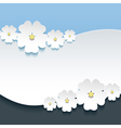 Greeting or invitation card with 3d flowers sakura vector