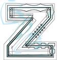 Font letter z vector