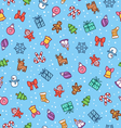 Christmas doodle pattern vector