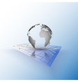 Globe world on the chart abstract vector
