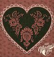 Vintage style valentines deisgn vector