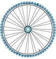 Bike wheel isolated on white background vector