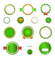 Set of sale badges labels and stickers in green vector