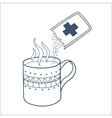 Cough and cold instant hot drink vector