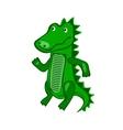 Hand-drawn cartoon wild crocodile vector