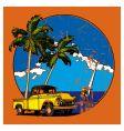 Hawaiian grunge scene vector
