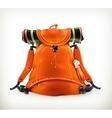 Travel backpack orange vector