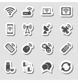 Wireless devices icons set as labes vector