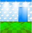 Eco themed room with door vector