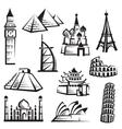 Set of landmarks vector