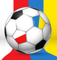 Football ball with poland and ukraine flags vector