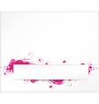 Grunge white pink vector