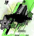 Green and black urban design vector