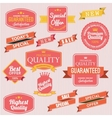 Set of stickers and ribbons vector