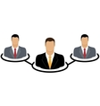 Corporate hierarchy concept vector