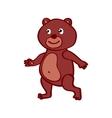 Hand-drawn cartoon wild bear vector