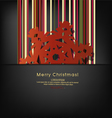 Merry christmas postcard with origami snowflake vector