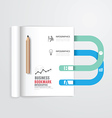 Infographic book open with bookmark vector