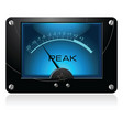 Blue analog meter vector