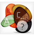 Abstract option infographic - glass round shapes vector