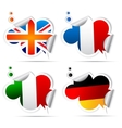 European national flag stickers vector