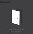 Open door premium icon white on dark background vector