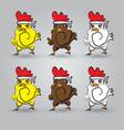 Strong chicken vector