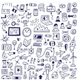 Web devices - doodles set vector