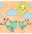 Sunny day pattern vector