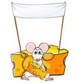 A mouse eating below the empty banner vector