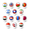 Map pointers with flags asia vector