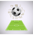 Soccer yard with thin line icons vector