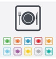 Food sign icon cutlery symbol knife and fork vector