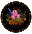 Petrikov painting vintage floral ornament vector