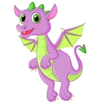 Cute dragon cartoon flying vector
