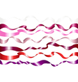 7 colorful ribbons vector