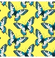 Seamless pattern with colorful machaon swallowtail vector