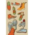 Set of cartoon shoes vector